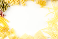 Abstract background made of pasta Stock Photo