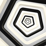 Abstract background made of pentagons. Abstract background made of black and white pentagons Royalty Free Stock Image
