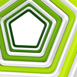 Abstract background made of pentagons. Abstract background made of white and green pentagons Royalty Free Stock Photos