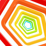 Abstract background made of pentagons Stock Image