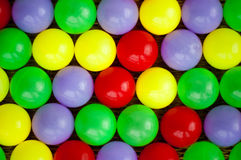 Abstract background made of plastic balls Stock Photo