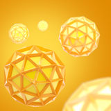 Abstract background made of plastic bright spheres. Abstract yellow and orange background made of plastic bright spheres Stock Photo