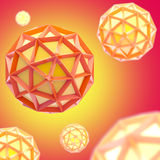 Abstract background made of plastic bright spheres. Abstract red and yellow background made of plastic bright spheres Stock Photo