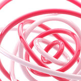 Abstract background made of plastic glossy rings. Abstract background made of bright pink plastic glossy rings stock illustration