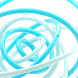 Abstract background made of plastic glossy rings Stock Images