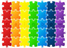 Abstract background made from puzzle pieces Stock Photography