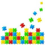 Abstract background made from puzzle pieces Royalty Free Stock Photos