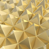 Abstract background made of pyramids. Abstract background made of glossy golden pyramid composition Royalty Free Stock Image