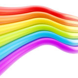 Abstract background made of rainbow colored stripes Stock Photo