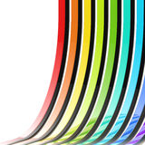 Abstract background made of rainbow stripes. Abstract background made of rainbow colored glossy stripes vector illustration