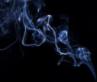 Abstract background made with real smoke Royalty Free Stock Photos