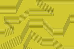 Abstract background made with repetitive thin lines in yellow color. Modern vector art stock illustration