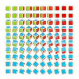 Abstract background made of RGB cubes Royalty Free Stock Photos