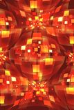 Abstract background made of scattered squares Stock Images