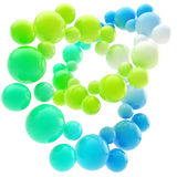 Abstract background made of spheres Stock Photos