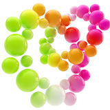 Abstract background made of spheres Royalty Free Stock Photo