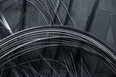 Abstract background made of thin metal strips Stock Images