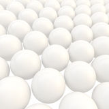 Abstract background made of white glossy spheres Stock Photo