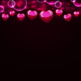 Abstract background of magenta hearts Stock Images