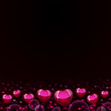 Abstract background of magenta hearts Royalty Free Stock Image