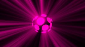 Abstract background with magic disco sphere. 3d rendering Royalty Free Stock Photography