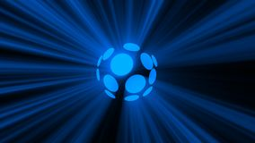 Abstract background with magic disco sphere. 3d rendering Stock Images
