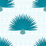 Abstract  background with maguey. Seamless pattern with blue agave Stock Image