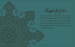 Abstract background with mandala element. This frame can be used like template for ads,cards and posters Stock Images