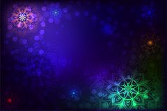 Abstract background with mandala and snowflake Royalty Free Stock Photo
