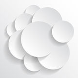 Abstract background. Many circles on a white background Royalty Free Stock Photo