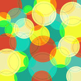 Abstract background with many colorful circles Royalty Free Stock Images
