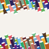 Abstract background. With many colors tubes stock illustration