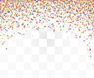 Abstract background with many falling colorful tiny confetti pieces. Vector background Stock Photo