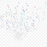 Abstract background with many falling confetti. Abstract background with many falling tiny confetti pieces. eps10 Royalty Free Illustration