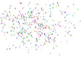 Abstract background with many falling confetti. Abstract background with many falling tiny confetti pieces. eps10 vector Stock Illustration