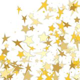 Abstract background with many falling gold stars confetti. vecto. R background. Vector Royalty Free Stock Image