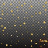 Abstract background with many falling gold stars confetti. vecto. R Royalty Free Stock Photography