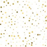 Abstract background with many falling gold stars confetti. vecto. R background Royalty Free Stock Photography