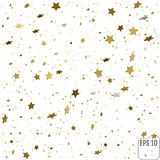 Abstract background with many falling gold stars confetti. vecto. R background Royalty Free Stock Image