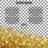 Abstract background with many falling gold stars confetti. Vecto Royalty Free Stock Photo