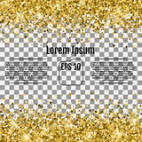 Abstract background with many falling gold stars confetti. Vecto Royalty Free Stock Images