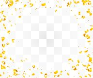 Abstract background with many falling golden tiny confetti pieces. Vector background Royalty Free Stock Photography
