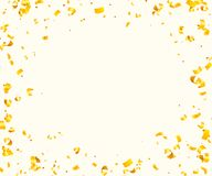 Abstract background with many falling golden tiny confetti pieces. Vector background Stock Photo
