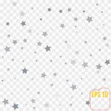 Abstract background with many falling silver stars confetti.. Abstract background with many falling silver stars confetti. vector background Stock Image