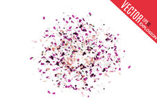 Abstract background with many falling tiny confetti pieces.  background. Royalty Free Stock Photo