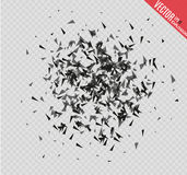 Abstract background with many falling tiny confetti pieces.  background. Abstract background with many falling tiny confetti pieces.  background Stock Illustration