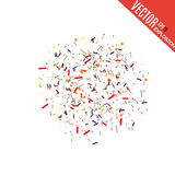 Abstract background with many falling tiny confetti pieces.  background. Abstract background with many falling tiny confetti pieces.  background Royalty Free Illustration