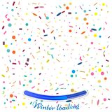Abstract background with many falling tiny confetti pieces. Vect. Or background. Winter loading concept Stock Images