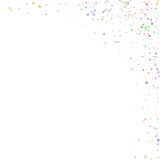 Abstract background with many falling tiny confetti pieces. Stock Photo