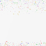 Abstract background with many falling tiny confetti pieces. Vector background Stock Photo